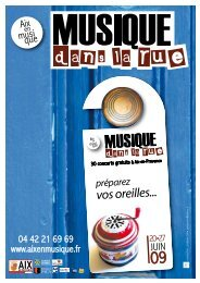 vos oreilles... - Aix-en-Provence