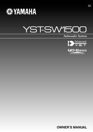 YST-SW1500 - Yamaha
