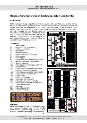 Bauanleitung - Digitalzentrale