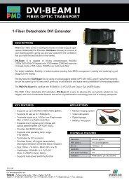 1-Fiber Detachable DVI Extender - VIDELCO