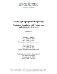 Verifying Employment Eligibility: - Alabama Construction Law