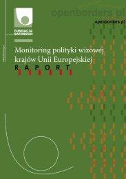 Monitoring polityki wizowej w UE - Fundacja im. Stefana Batorego