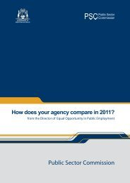 How does your agency compare? - Public Sector Commission - The ...