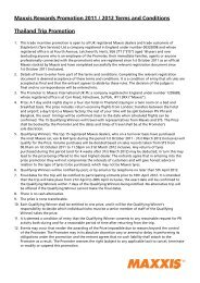 Maxxis Rewards Promotion 2011 / 2012 Terms and Conditions ...