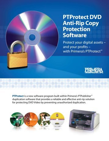 PTProtect DVD Anti-Rip Copy Protection Software - Primera