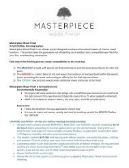Masterpiece Wood Finish Instructions - Highland Woodworking