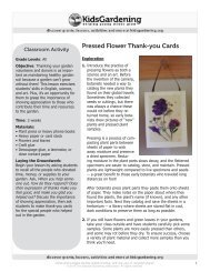 Pressed Flower Thank-you Notes - KidsGardening.com