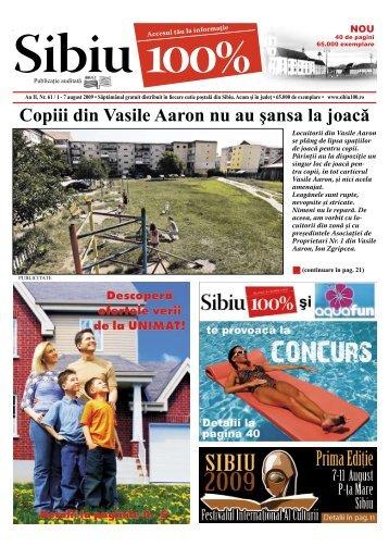 Copiii din Vasile Aaron nu au şansa la joacă - Sibiu 100