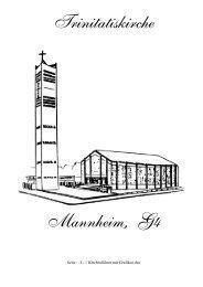 Trinitatiskirche Mannheim, G4 - Evang. Personalgemeinde Trinitatis ...