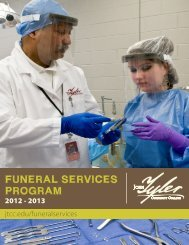 FUNERAL SERVICES PROGRAM - John Tyler Community College