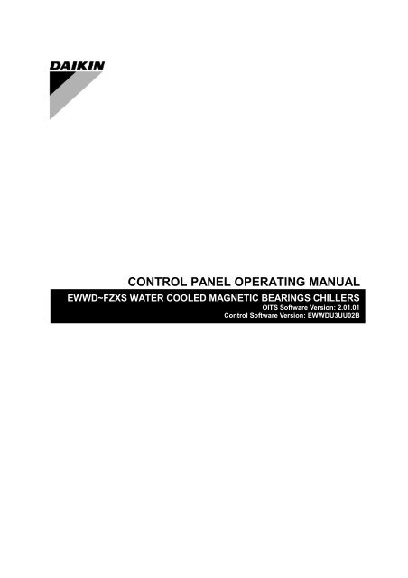 CONTROL PANEL OPERATING MANUAL - Daikin on