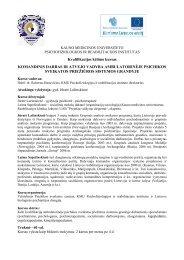 Komandinio darbo kursai - Psichofiziologijos ir reabilitacijos ...