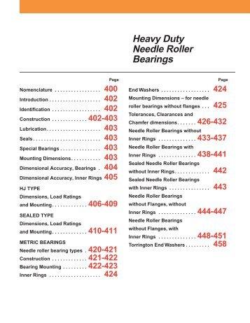 Heavy Duty Needle Roller Bearings - VTL