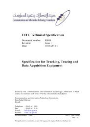 Tracking, Tracing and Data Acquisition Equipment