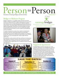 Summer 2011 newsletter - Saratoga Bridges