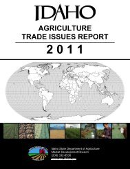 AGRICULTURE TRADE ISSUES REPORT - Idaho Department of ...