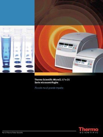 MicroCL 17 e 21 - Thermo Scientific Home Page