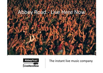 Live Here Now - Abbey Road Studios