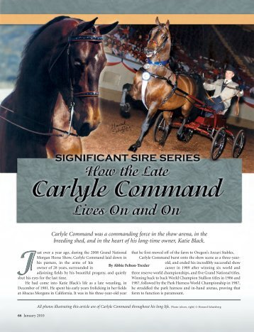 How the Late Carlyle Command Lives On and On