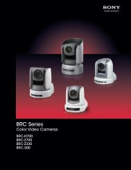 Sony BRC Series - ZTV Broadcast Services Inc.