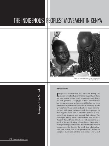 THE InDIGEnOUs PEOPLEs' MOVEMEnT In KEnyA - iwgia