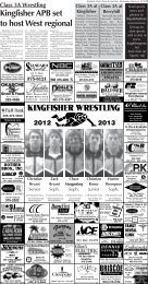 Section A Pages 7-10. - Kingfisher Times and Free Press