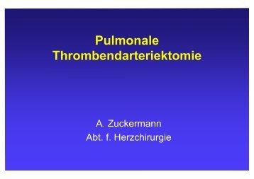 Pulmonale Thrombendarteriektomie