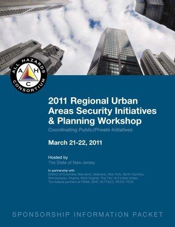 2011 Regional Urban Areas Security Initiatives & Planning Workshop