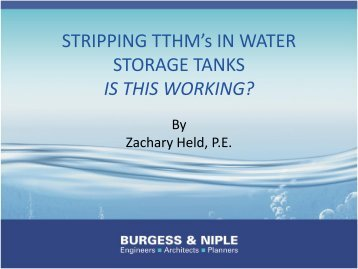 Stripping TTHM's in Water Storage Tanks - Is This ... - Ohiowater.org