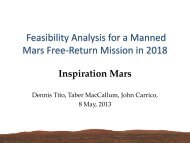 Feasibility Analysis for a Manned Mars Free-Return Mission in 2018