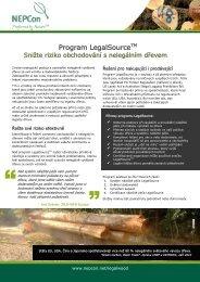 Program LegalSourceTM - NEPCon