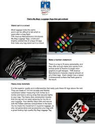 Luggage Tag Press Release - Travel Goods Association