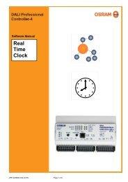 Software Manual DALI Pro. RTC - Osram