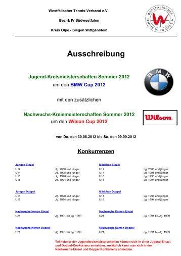 Ausschreibung (pdf) - TC Wilgersdorf