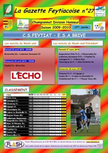 La Gazette Feytiacoise n°27 - Footeo