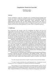 Linguistische Theorie im Unterricht
