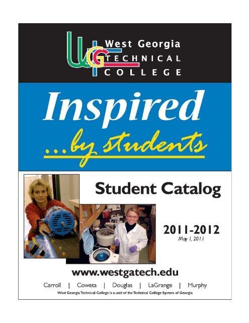 Student Catalog 2011-2012 - West Georgia Technical College