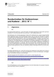Rundschreiben für Kodiererinnen und Kodierer : 2013 / N° 1