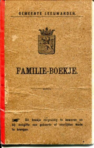 FAMILIE-BOEKJE. - Coret