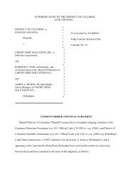 Consent Order and Final Judgment - News Room, DC