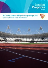 BUCS Visa Outdoor Athletics Championships 2012 Entry and Initial ...