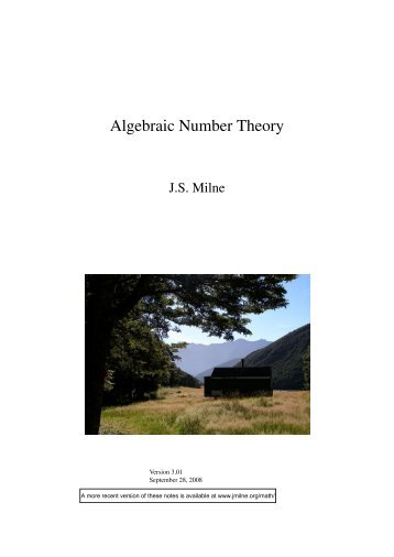 Algebraic Number Theory - James Milne