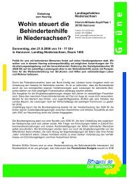 Einladung zum Hearing am 21.09.2006 - Behindertenbeauftragter ...