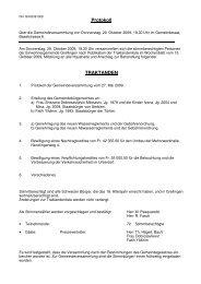 Protokoll vom 29. Oktober 2009 - Grellingen