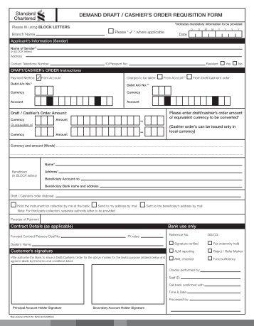 standard chartered demand draft