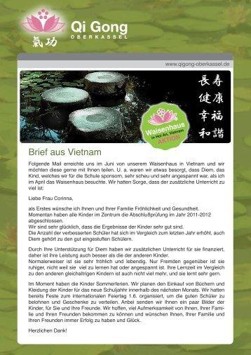 Brief aus Vietnam - Qi Gong Oberkassel
