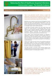 Antimicrobial Copper - The Scientific Evidence