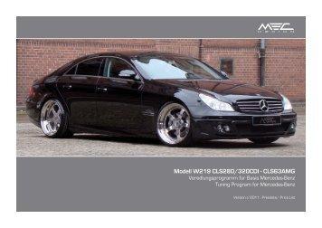 W219 Pricelist International.indd - MEC DESIGN