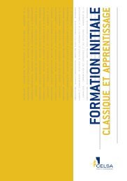 Brochure formation initiale classique et apprentissage - Celsa