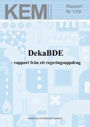DekaBDE - Kemikalieinspektionen